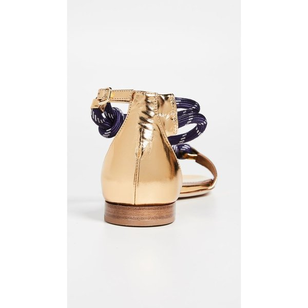 マローンスリアーズ Malone Souliers レディース サンダル・ミュール シューズ・靴 Fenn Flat Sandals Gold/Navy