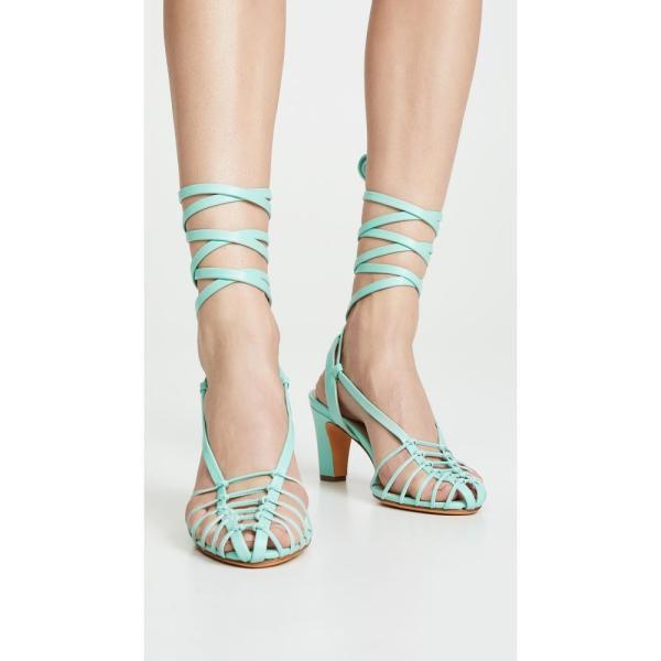 マリアム ナッシアー ザデー Maryam Nassir Zadeh レディース サンダル・ミュール シューズ・靴 Maribel Sandals Seafoam