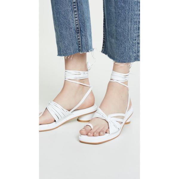 レイクネン Reike Nen レディース ビーチサンダル シューズ・靴 Unbalanced String Flip Flops White