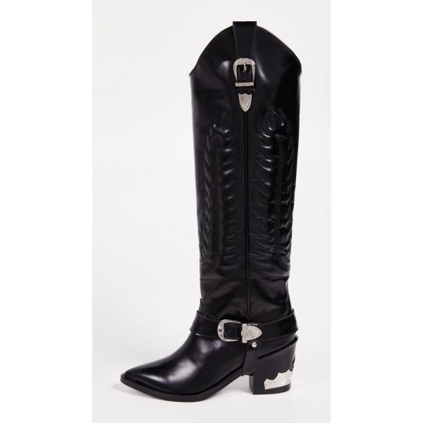 トーガ Toga Pulla レディース ブーツ シューズ・靴 Tall Buckled Boots Black