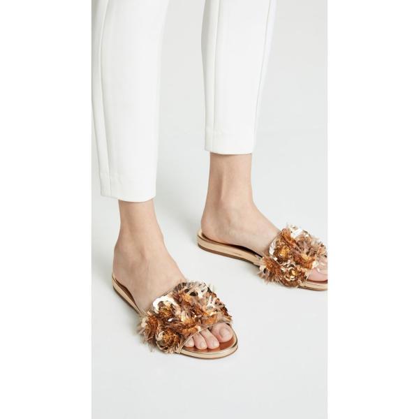 タビサ シモンズ Tabitha Simmons レディース サンダル・ミュール シューズ・靴 Lynny Slide Sandals Gold