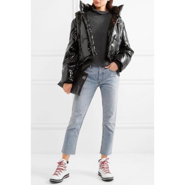 モンクレール Moncler レディース ブーツ シューズ・靴 Blanche shearling-lined leather ankle boots