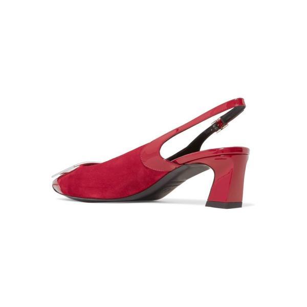 ロジェ ヴィヴィエ Roger Vivier レディース パンプス シューズ・靴 Trompette suede and patent-leather slingback pumps Rubino Scuro