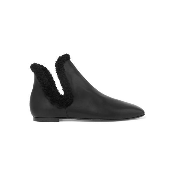 ザ ロウ The Row レディース ブーツ シューズ・靴 Eros shearling-trimmed leather ankle boots