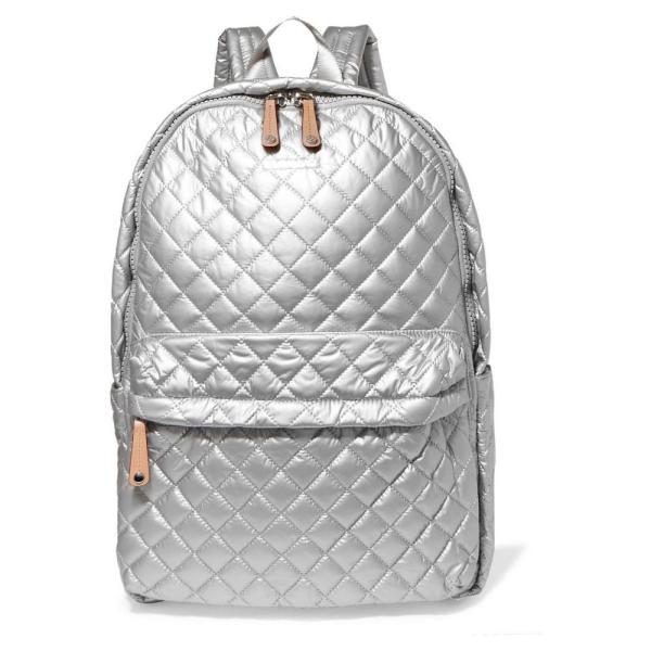 エムジー ウォレス MZ Wallace レディース バックパック・リュック バッグ Metro leather-trimmed metallic quilted shell backpack Tin Metallic