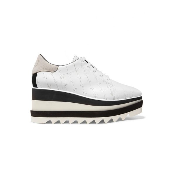 ステラ マッカートニー Stella McCartney レディース ローファー・オックスフォード Elyse logo-perforated faux leather and suede platform brogues