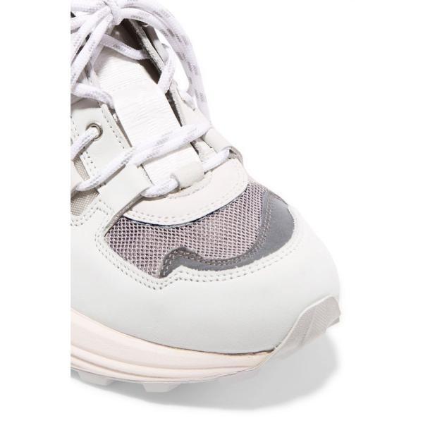 ガニー GANNI レディース スニーカー シューズ・靴 Suede, leather, rubber and mesh sneakers