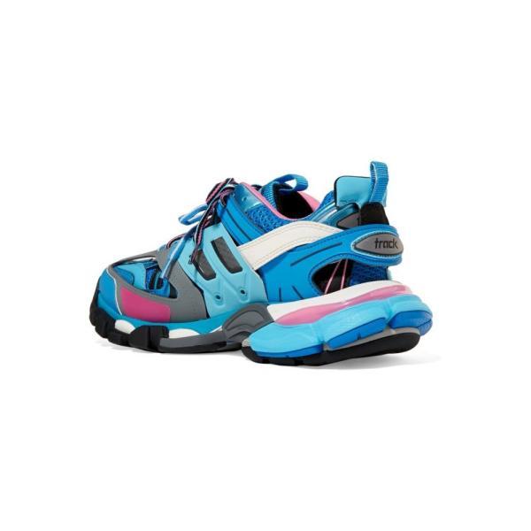バレンシアガ Balenciaga レディース スニーカー シューズ・靴 Track logo-detailed mesh and rubber sneakers