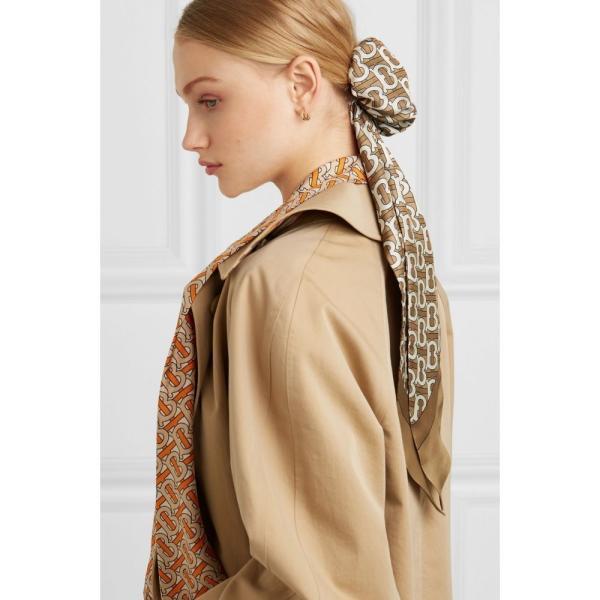 バーバリー Burberry レディース ヘアアクセサリー Printed mulberry silk-twill hair tie