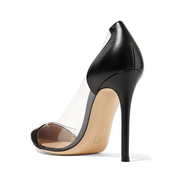 ジャンヴィト ロッシ レディース パンプス シューズ・靴 Leather and PVC pumps