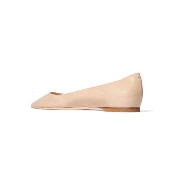 ジミー チュウ レディース スリッポン・フラット シューズ・靴 Romy patent-leather point-toe flats
