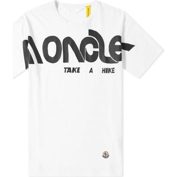 モンクレール Moncler Genius メンズ Tシャツ ロゴTシャツ トップス - 2 moncler 1952 - macro logo print tee White|ef-3