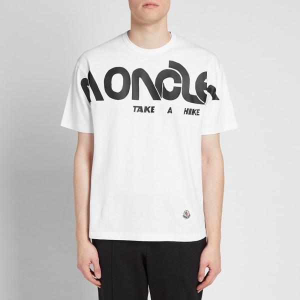 モンクレール Moncler Genius メンズ Tシャツ ロゴTシャツ トップス - 2 moncler 1952 - macro logo print tee White|ef-3|03