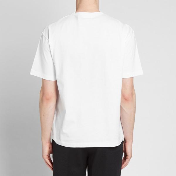 モンクレール Moncler Genius メンズ Tシャツ ロゴTシャツ トップス - 2 moncler 1952 - macro logo print tee White|ef-3|04