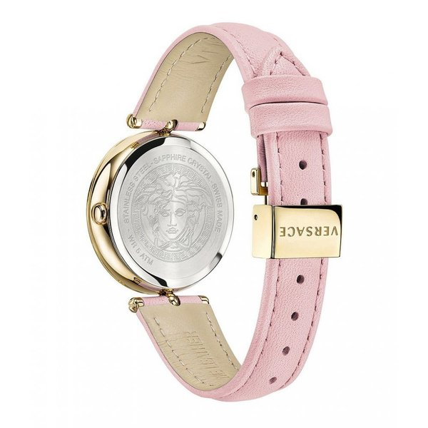 ヴェルサーチ Versace レディース 腕時計 Palazzo Empire 34mm Pink Calf Leather Strap Watch Rose Gold