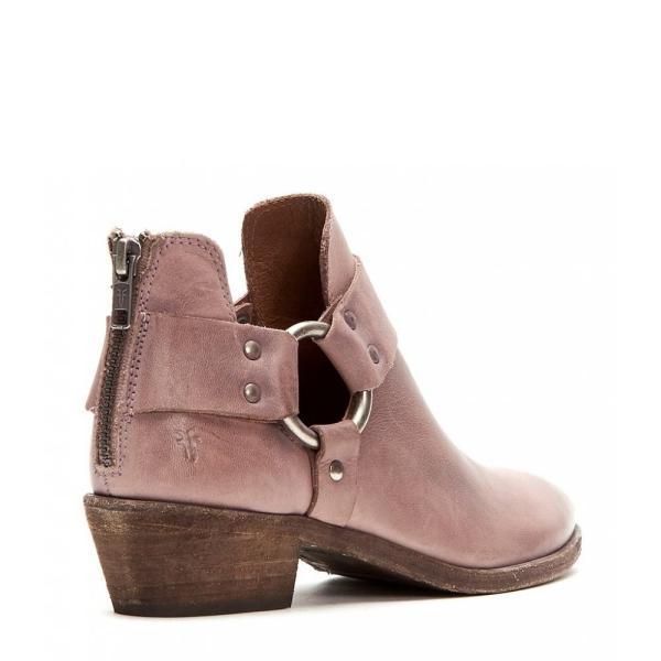 フライ Frye レディース ブーツ シューズ・靴 Ray Harness Leather Back Zip Block Heel Booties Lilac