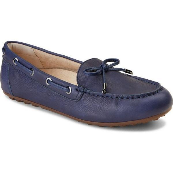 バイオニック Vionic レディース ローファー・オックスフォード シューズ・靴 Virginia Leather Slip On Moccasins Twilight