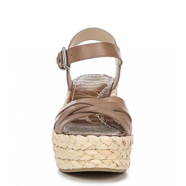 サム エデルマン Sam Edelman レディース エスパドリーユ シューズ・靴 Darline Leather Platform Espadrille Wedges Latte