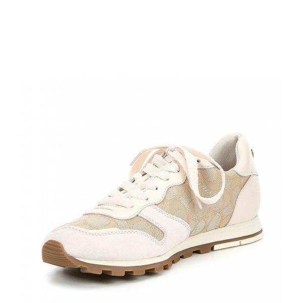 コーチ COACH レディース スニーカー シューズ・靴 C125 Leather Runner Sneakers Ivory/Chalk