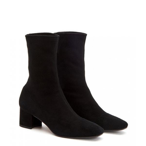 アクアタリア Aquatalia レディース ブーツ シューズ・靴 Janine Stretch Suede Booties Black