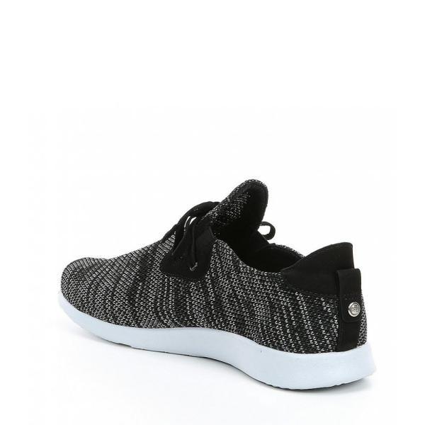 ニューチュアー Nurture レディース スリッポン・フラット シューズ・靴 Jaqueethree Leather Knit Sneaker Black/Dark Grey