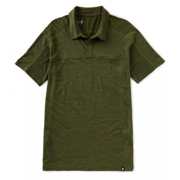 スマートウール SmartWool メンズ ポロシャツ トップス Merino Sport 150 Short-Sleeve Polo Shirt Moss Green Heather|ef-3