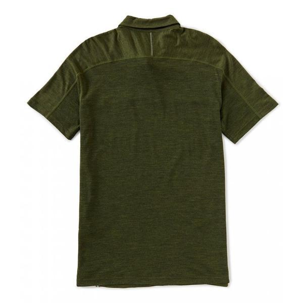 スマートウール SmartWool メンズ ポロシャツ トップス Merino Sport 150 Short-Sleeve Polo Shirt Moss Green Heather|ef-3|02