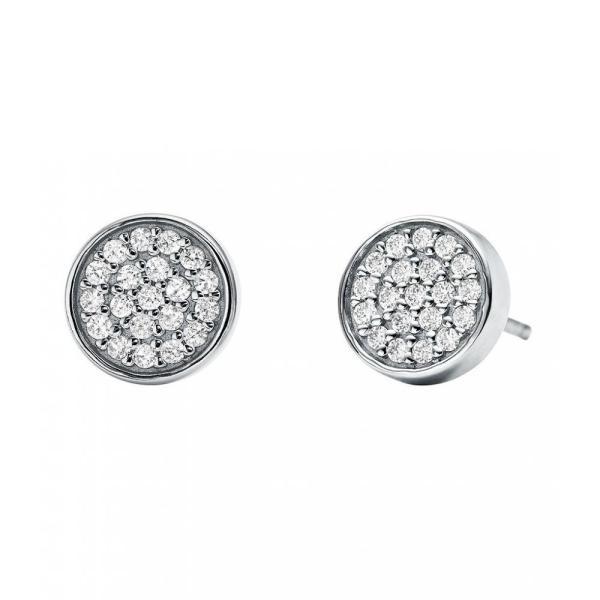 マイケル コース Michael Kors レディース イヤリング・ピアス ジュエリー・アクセサリー Custom Kors Collection Sterling Silver Pave Stud Earrings Silver