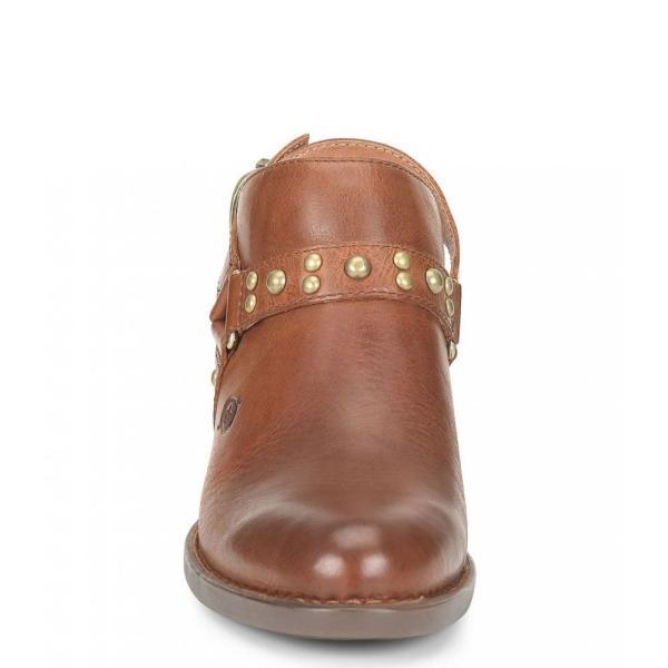 ボーン Born レディース クロッグ シューズ・靴 Pindo Leather Slingback Block Heel Clogs British Tan