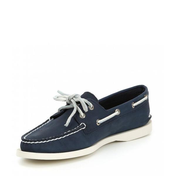 スペリー Sperry レディース スリッポン・フラット シューズ・靴 Authentic Original 2-Eye Boat Shoes Navy
