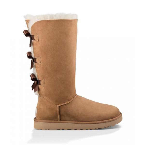 アグ UGG レディース ブーツ シューズ・靴 Bailey Bow Tall II Suede Water Resistant Boots Chestnut