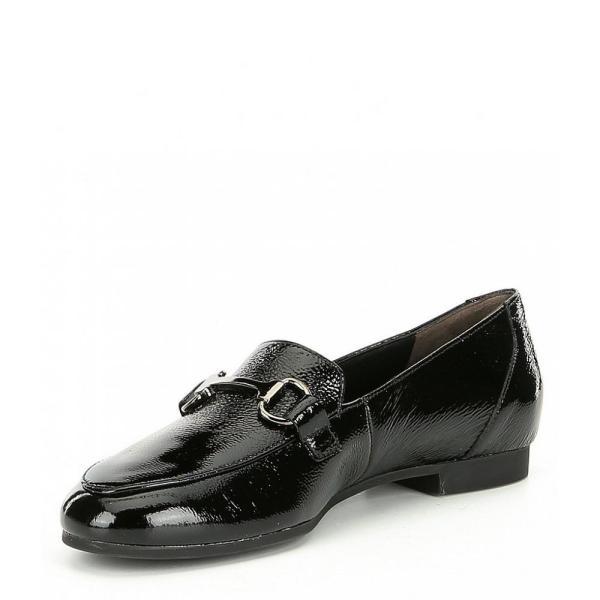 ポールグリーン Paul Green レディース ローファー・オックスフォード シューズ・靴 Tosi Flt Leather Loafers Black Crinkled Patent