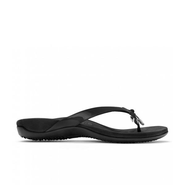 バイオニック Vionic レディース ビーチサンダル シューズ・靴 Bella II Bow Detail Flip-Flops Black