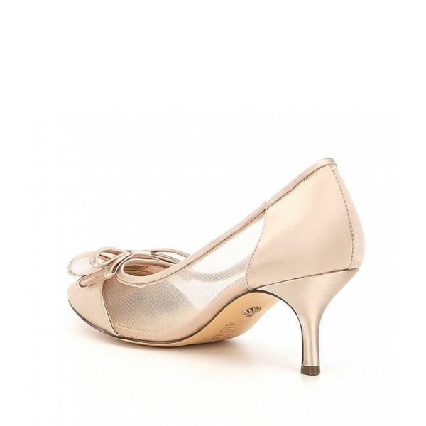 ニナ Nina レディース パンプス シューズ・靴 Bianca Mesh Satin Bow Pumps Champagne