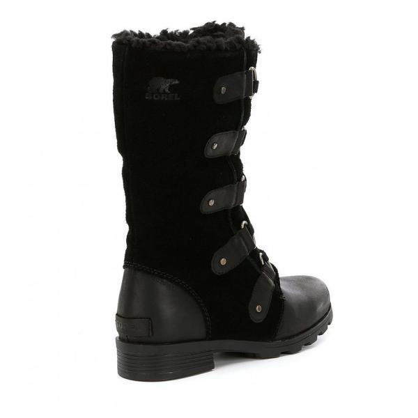 ソレル Sorel レディース ブーツ シューズ・靴 SOREL Emelie Lace Mid Winter Waterproof Faux Fur Block Heel Boots Black