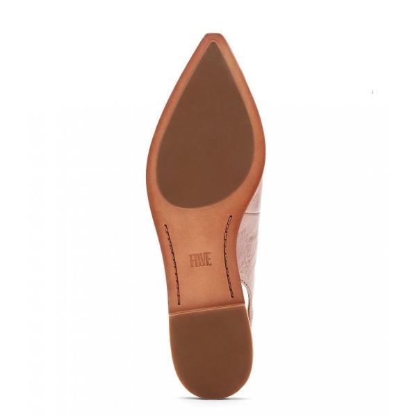 フライ Frye レディース スリッポン・フラット シューズ・靴 Kenzie Leather Block Heel Slingback Flats Lilac
