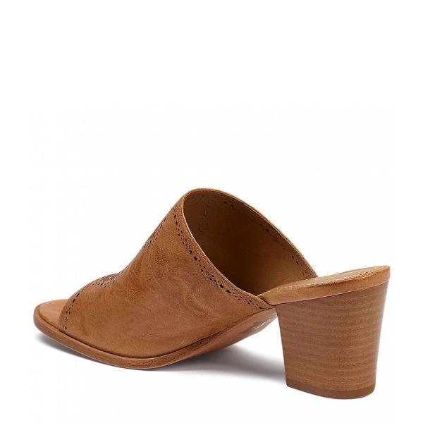 トラスク Trask レディース サンダル・ミュール シューズ・靴 Carlena Leather Block Heel Mules Tan