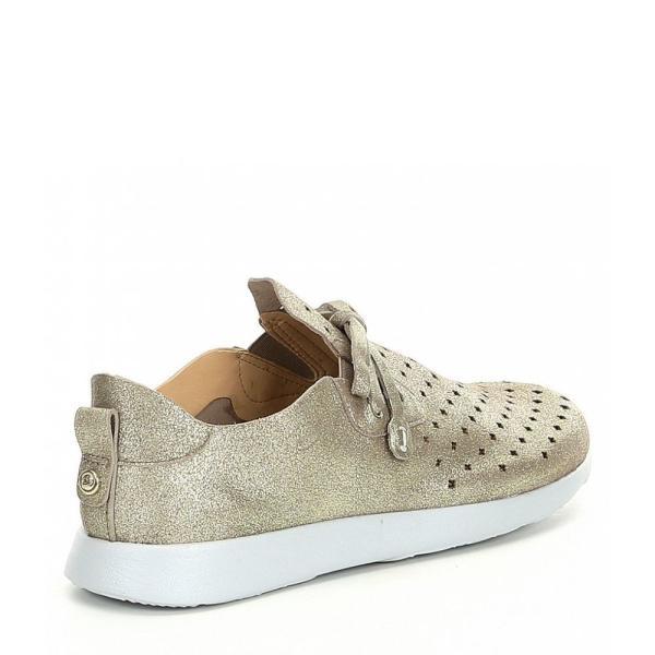 ニューチュアー Nurture レディース スリッポン・フラット シューズ・靴 Jaqueetwo Metallic Suede Perforated Sneaker Shimmer Taupe
