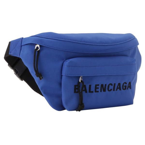 【即納】バレンシアガ Balenciaga ユニセックス ボディバッグ・ウエストポーチ バッグ Wheel Belt Pack BLUE バムバッグ ベルトバッグ ナイロン|ef-3