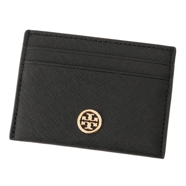 【即納】トリー バーチ Tory Burch レディース カードケース・名刺入れ Robinson Card Case 54886 Perfect Black ロゴ|ef-3