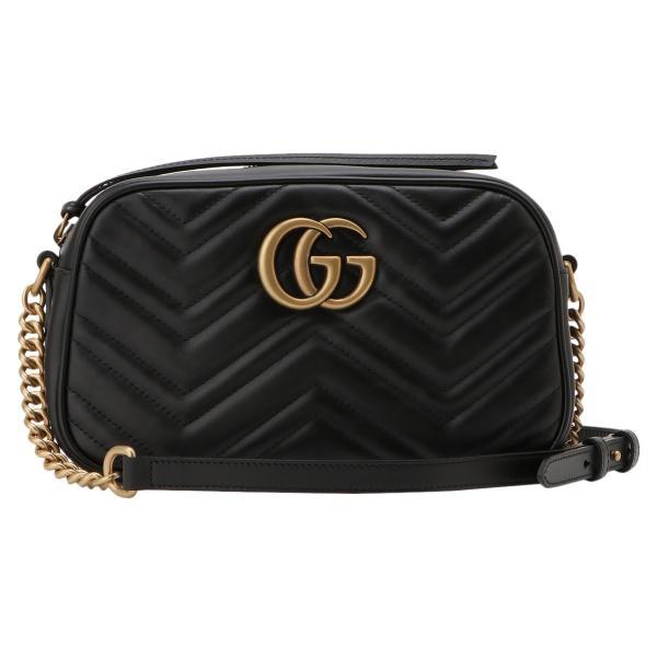 【即納】グッチ Gucci レディース ショルダーバッグ バッグ GG Marmont 2.0 447632 DTD1T 1000 BLACK GGマーモント キルティング クロスボディ|ef-3