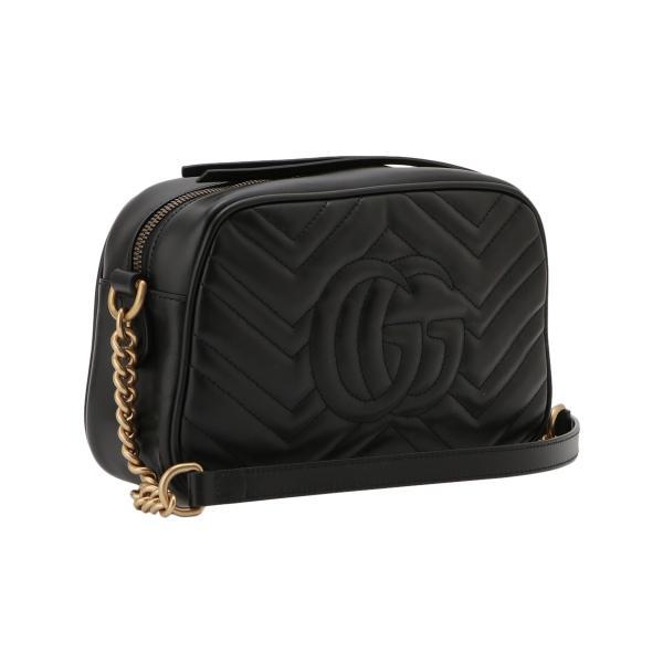 【即納】グッチ Gucci レディース ショルダーバッグ バッグ GG Marmont 2.0 447632 DTD1T 1000 BLACK GGマーモント キルティング クロスボディ|ef-3|02