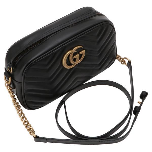 【即納】グッチ Gucci レディース ショルダーバッグ バッグ GG Marmont 2.0 447632 DTD1T 1000 BLACK GGマーモント キルティング クロスボディ|ef-3|06