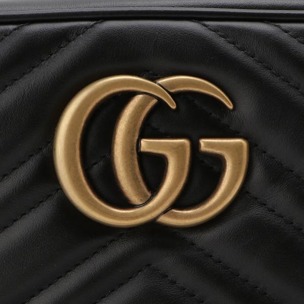 【即納】グッチ Gucci レディース ショルダーバッグ バッグ GG Marmont 2.0 447632 DTD1T 1000 BLACK GGマーモント キルティング クロスボディ|ef-3|07