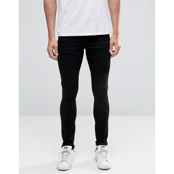 【即納】エイソス ASOS メンズ ジーンズ・デニム ボトムス・パンツ Extreme Super Skinny Jeans Black ef-3 07