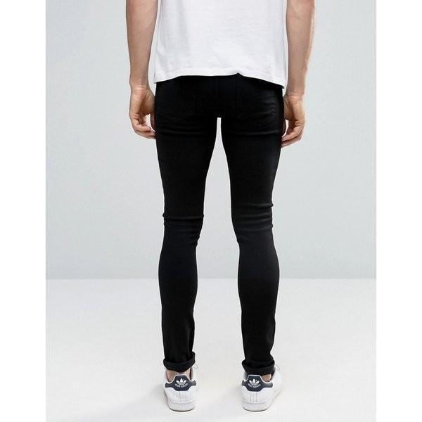 【即納】エイソス ASOS メンズ ジーンズ・デニム ボトムス・パンツ Extreme Super Skinny Jeans Black ef-3 08