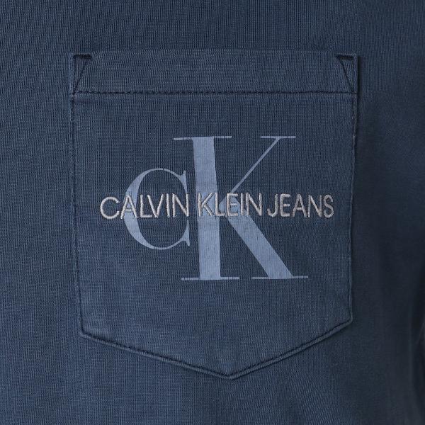 【即納】カルバンクライン Calvin Klein メンズ Tシャツ トップス GARMENT DYED MONOGRAM POCKET TEE MOOD INDIGO ポケットT ポケT|ef-3|03