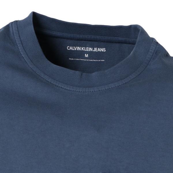 【即納】カルバンクライン Calvin Klein メンズ Tシャツ トップス GARMENT DYED MONOGRAM POCKET TEE MOOD INDIGO ポケットT ポケT|ef-3|04