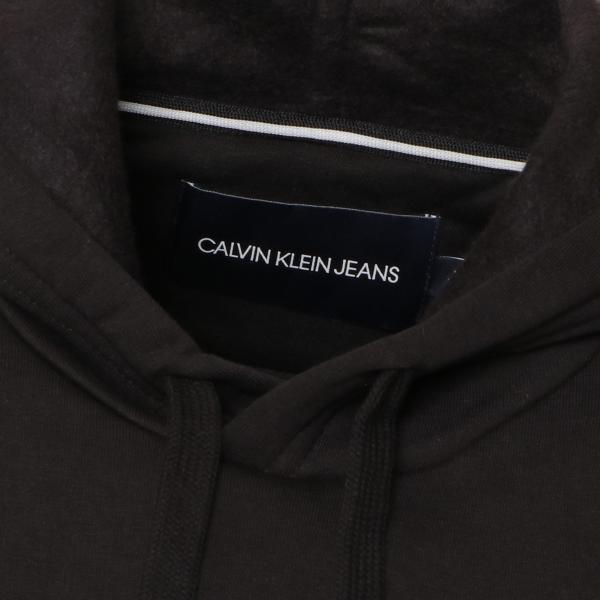 【即納】カルバンクライン Calvin Klein メンズ パーカー トップス VARSITY TRAVELLING LOGOCROSSOVER HOODIE BLACK - REBUY プルオーバー フード フーディ|ef-3|04