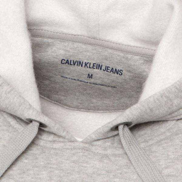 【即納】カルバンクライン Calvin Klein メンズ パーカー トップス CK MONOGRAM LOGO HOODIE MED CHAR HTHR モノグラム プルオーバー フーディ フード ef-3 04